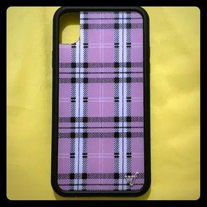 iphone XR lavender plaid wildflower case
